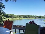 View from the deck off the kitchen overlooking the water. Truly Heaven on Earth! - 10 Cove Hill North Chatham Cape Cod...