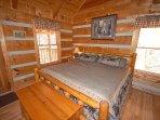 Enjoy the King Size Log Bed