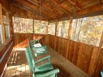 Enjoy the Loveseat Swing on the Covered Deck