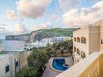 balcon vue sur les falaises