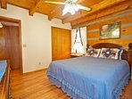 Bedroom #1 ~ Main Level Master Queen Bedroom ensures your stay will be comfortable