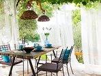 terrace under the vine