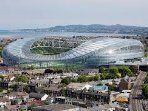 The Aviva Stadium 8 minutes walk hosts international rugby and soccer matches and many concerts