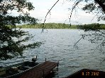 private dock on Placid Lake