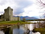 Ross Castle Killarney. Boat tours of the lakes depart from here.