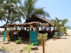 Dine with your feet in the sand, San Pancho