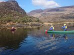 Cappanalee Outdoors Education Centre Caragh Lake. Canoeing on the Lake.