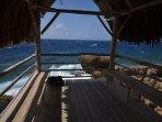 Uno dei due palapas a fronte all'oceano - rilassarsi e godersi l'aria fresca salata