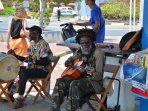 Local musicians in downtown Willemstad