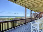Covered Oceanfront Deck