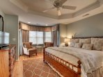 Master Bedroom, Featuring King Bed