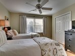 Guest Bedroom Featuring Two Twin Beds