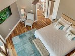 Looking Down to Upper Level Bedroom With Views!