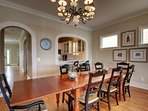Seating for all at the dining room table!