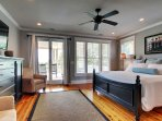 Spacious and luxurious king master bedroom
