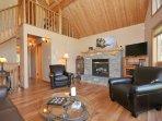 Open modern main level living room space