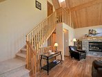 Main floor stairs to the master bedroom.