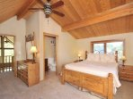 Master bedroom suite is comfortable and stylish