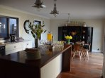 Beautifully appointed kitchen with Falcon Cooker