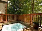 Hot tub on main deck.