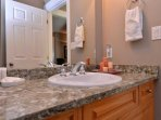 Two piece bathroom located on the main level of the home.