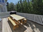 Picnic Table and Gas Grill on Side Patio