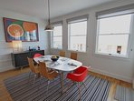 Dining Table Seats Six and Offers Gulf Views