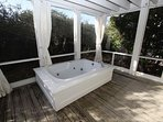 Screened Porch with Outdoor Hot Tub