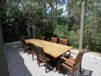 Large Picnic Table in Back Yard