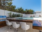 Poolside Kitchen has Boat Styled Barstools