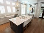 Kitchen Island has Bar Seating for 3
