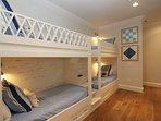 Bunk Bedroom - Four Built-in Twins in Hallway