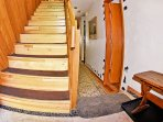 Hallway and Stairs with New Wood Flooring
