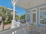 Second Story Balcony - Gas Grill and Dining Table