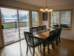 Dining room with great lighting