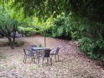 Enjoy dinner or a drink in the private leafy garden