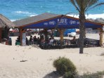 Life Beach Club with drinks and food available.
