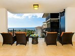 Enjoy an Evening Snack and Beverage from Your Lanai while Watching the Sunset