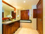 Take a Long, Relaxing Bath in the Large Soaking Tub in the Master Bathroom