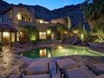 Main House Pool and Spa at Night