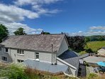 Lovely views to the hills from 2 Tan-yr-Eglwys, a charming semi-detached cottage