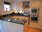 Fully fitted and well equipped kitchen.