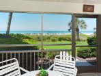 Enclosed Screened Lanai Overlooking the Beach