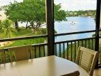 Glass Enclosed Lanai with View of Bay