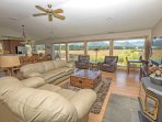 Living Room with View of Tallac and Meadow