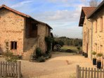 The entrance to the three gites, set in a stunning rural location, enjoy the peace & tranquility