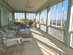 Upstairs Porch w/View