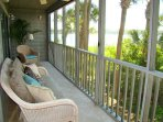 Screened Porch with Awesome River & Sunset Views