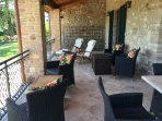 Seating on the Veranda Overlooking the Olive Grove