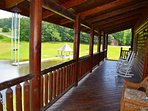 Large Covered Deck Overlooking the Beautiful Pond